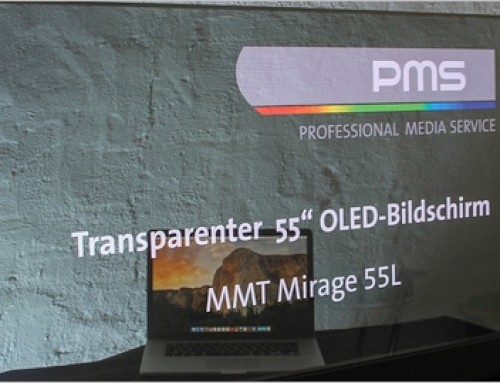 pms.technology – Transparenter OLED-Bildschirm 55""